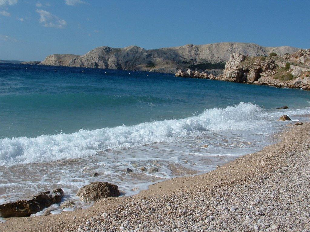 Baska spiaggia Bunculuka isola Krk