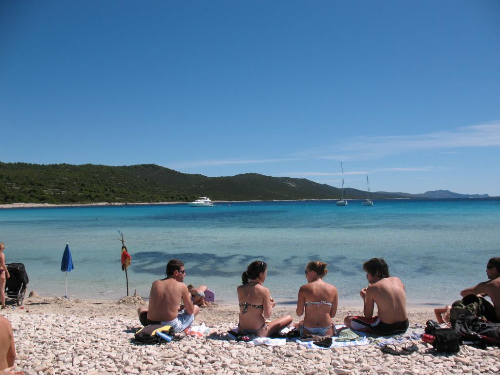 la spiaggia di Sakarun a Dugi Otok