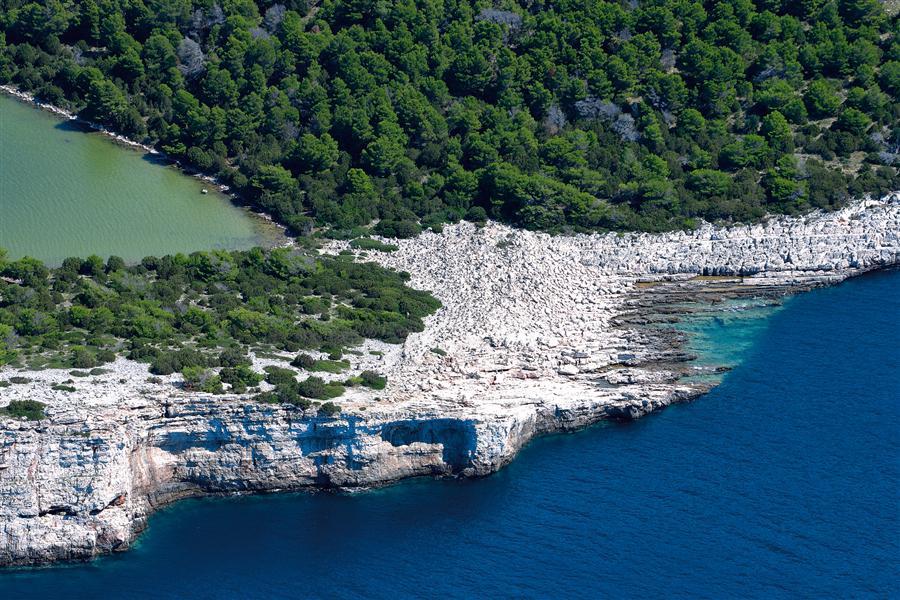 il Parco Naturale di Telascica sull'isola Dugi Otok
