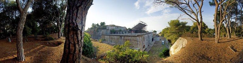 teatro Ulysses sull'isola Mali Brijun nell'arcipelago delle isole Brioni