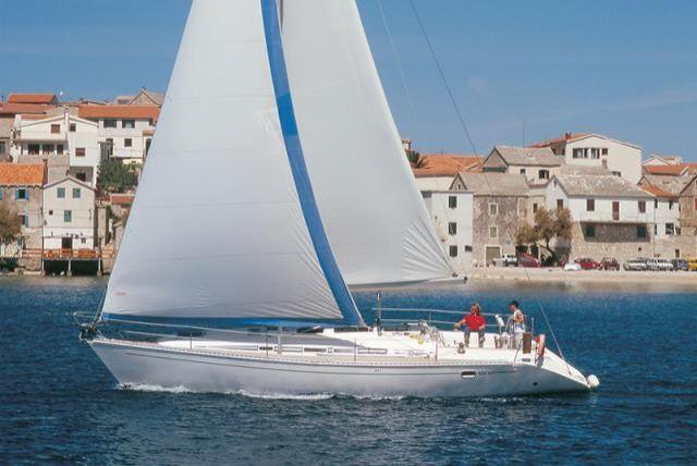 in barca a vela sul mare Croato