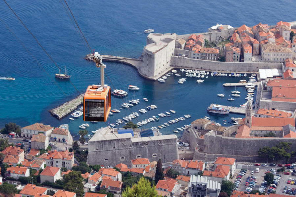 Dubrovnik in teleferica