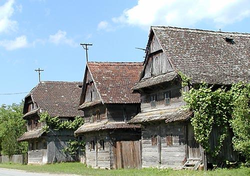 case in quercia nel Lonjsko Polje