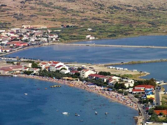città di Pag sull'isola Pag