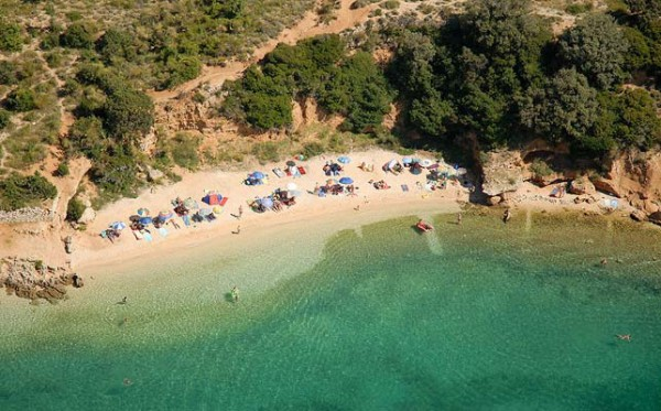 spiagge sull'isola Rab