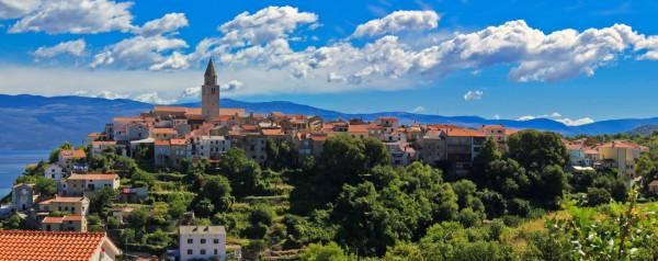 città di Vrbnik sull'isola Krk