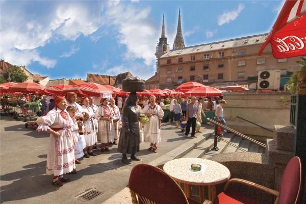 Dolac Market città bassa di Zagabria