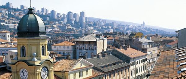 città di Fiume vista dall'alto