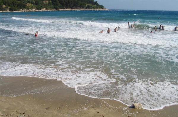 spiaggia di sabbia in Croazia: Lumbarda sull'isola Korcula