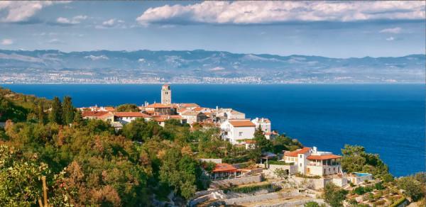borgo medievale di Moscenice vicino a Moscenicka Draga