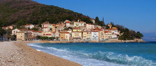 spiaggia e paese di Moscenicka Draga