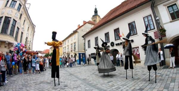 artisti di strada allo Spancirfest Varazdin