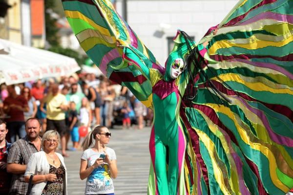 Spancirfest Varazdin figuranti in costume