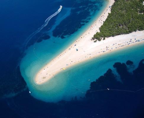 spiagge in Croazia Zlatni Rat o Corno d'oro