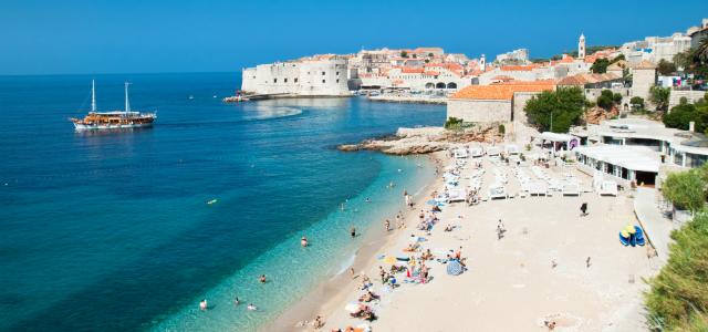 spiagge in Croazia Banja a Dubrovnik