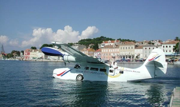 atterraggio dell'idroplano da Spalato