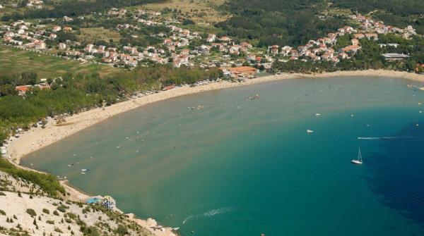 spiagge in Croazia Lopar sull'isola Rab