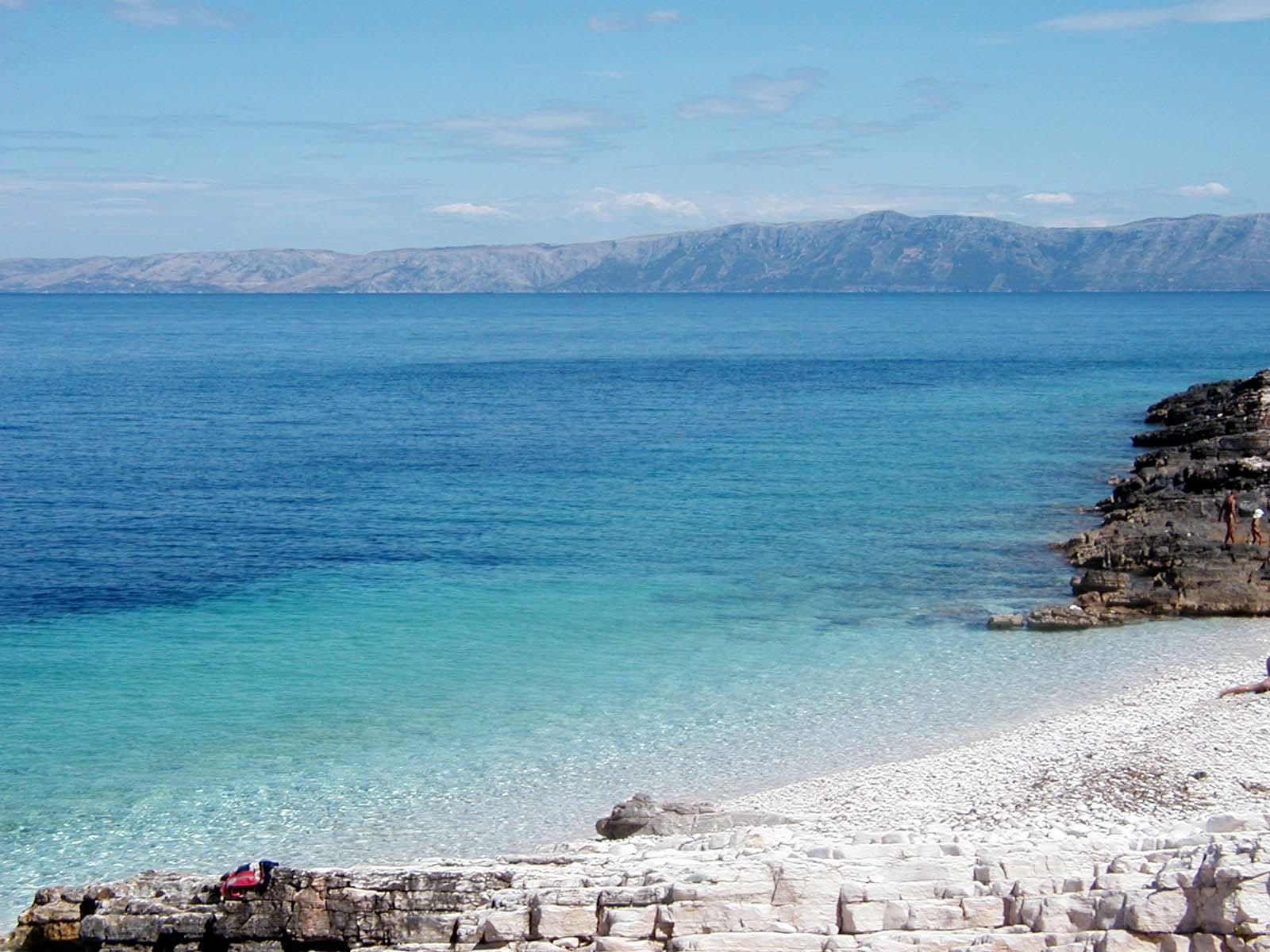 spiagge in Croazia isola Proizd davanti a Vela Luka