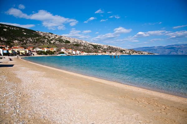 Baska sull'isola Krk spiaggia