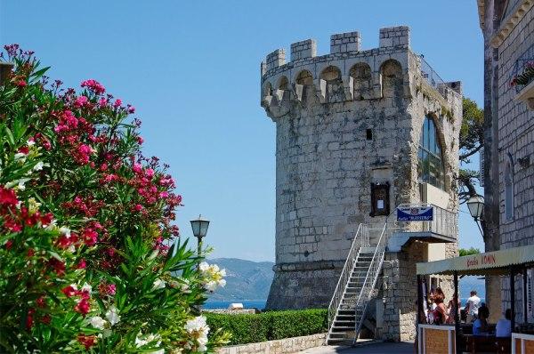 Korcula mura e bastioni