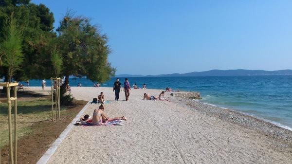spiaggia Kolovare a Zara