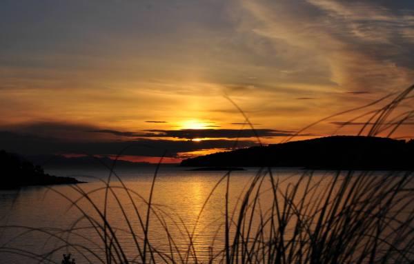 tramonto sull'isola di KOrcula località Lumbarda