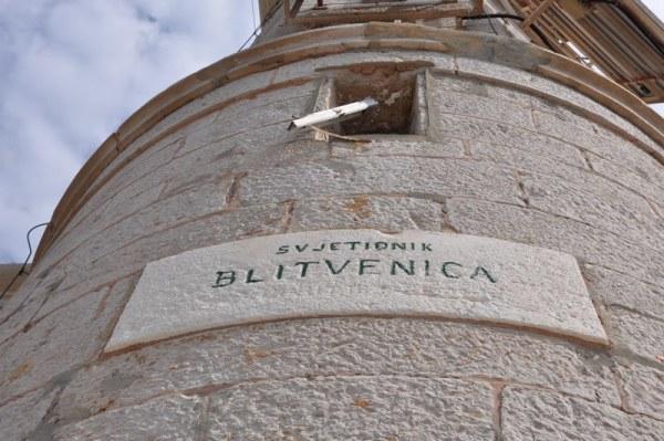 il faro sull'isola Blitvenica