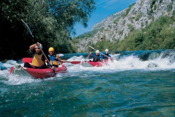 discesa sul fiume Cetina