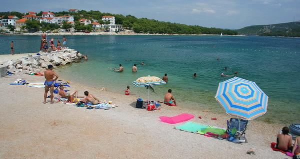 spiaggia Jezera sull'isola Murter