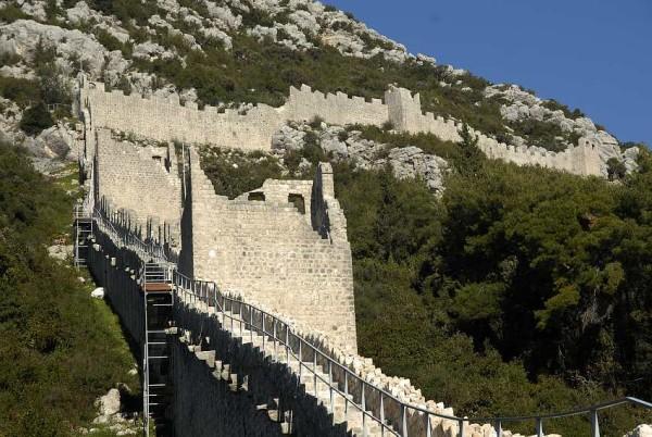 Penisola di Peljesac mura di Ston e mali Ston