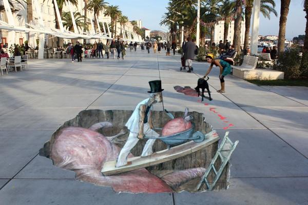 arte di strada 3d a Spalato