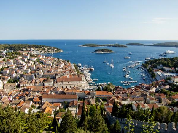 isola Hvar città di Hvar fortezza Spagola