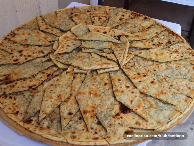 piatto tradizionale della regione di Omis Poljicki Soparnik