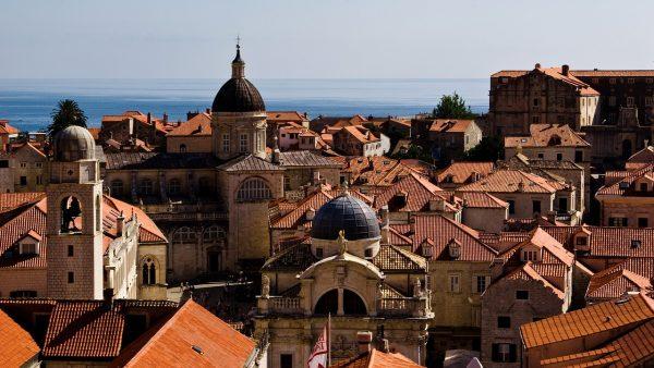 i tetti delle case di Dubrovnik