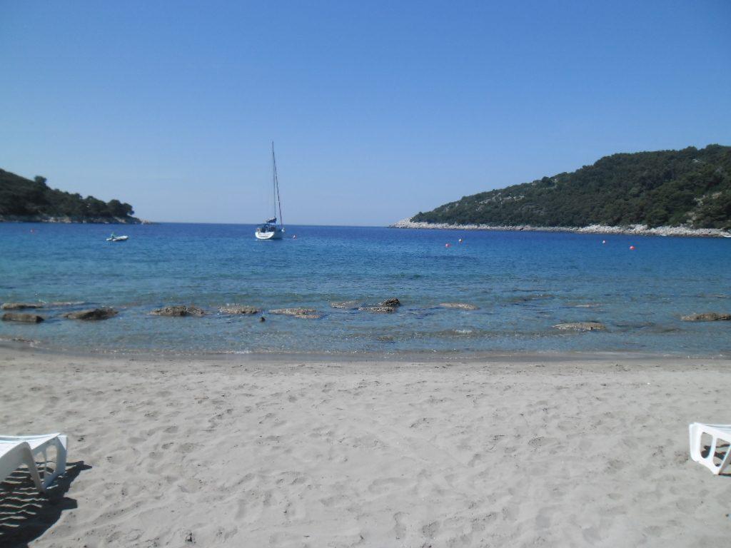 spiagge della Croazia Saplunara sull'isola Mljet