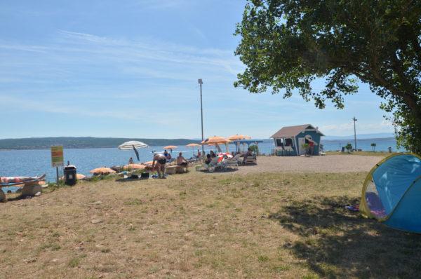 spiaggia per cani a Crikvenica