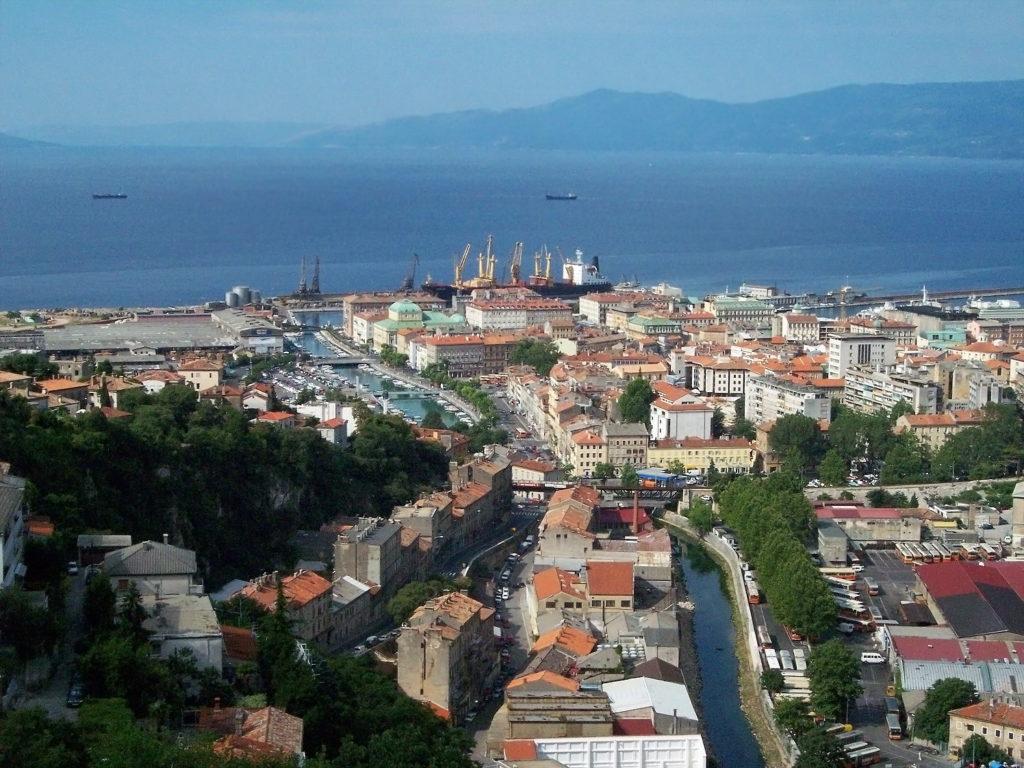 Rijeka porto commerciale del Quarnero