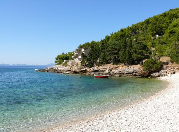 Bacva una delle più belle spiagge dell'isola Korcula