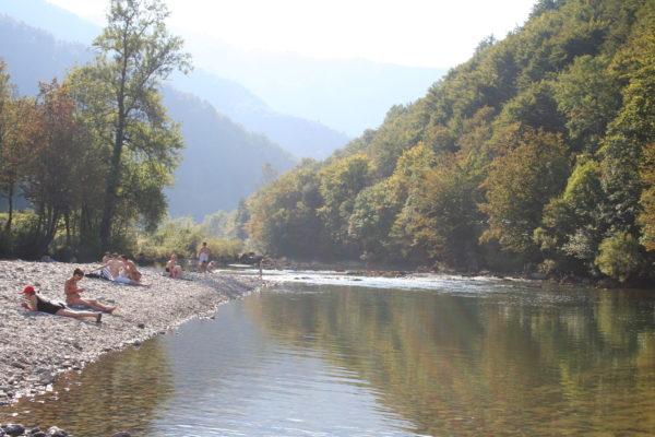 bagno sul fiume Kupa