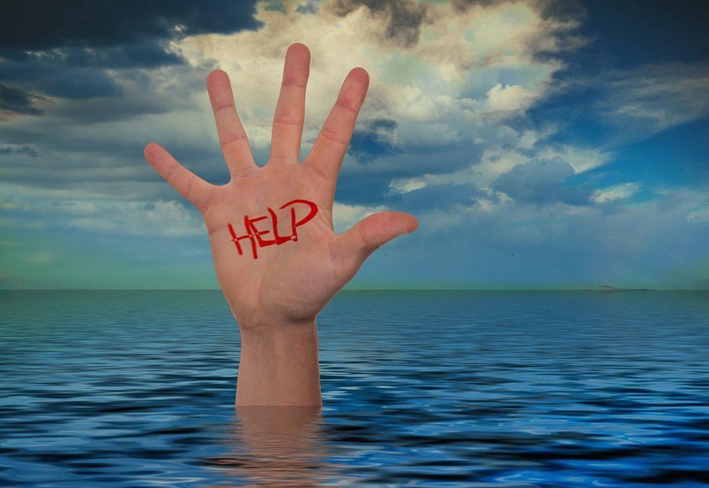 richiesta di aiuto in mare