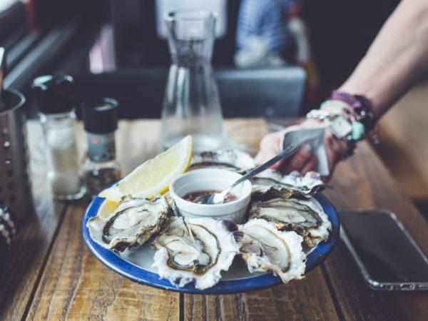 piatto di ostriche