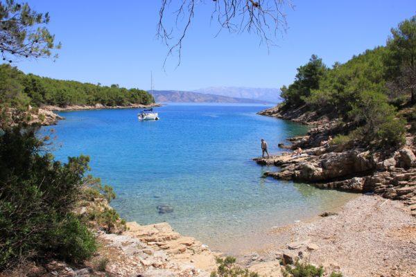 baie e spiagge sull'isola Hvar